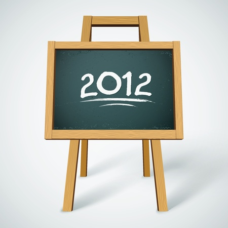 2012 on class chalkboard background Vector