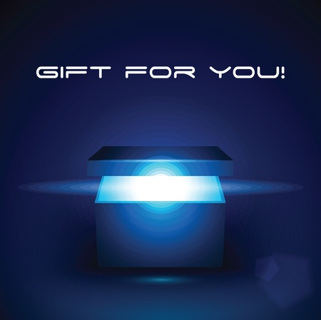 Vector bewerkbare illustratie van magie geschenkdoos