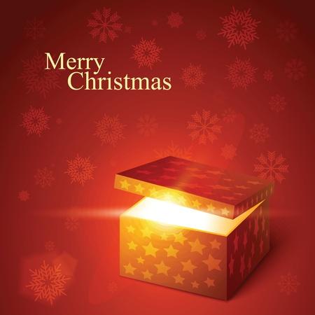 Vector editable illustration of magic gift box Stock Vector - 10823671