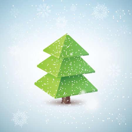 3d christmas tree Vector