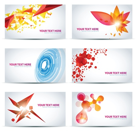 Colorful businesscard templates Stock Vector - 10909364