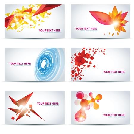 businesscard: Colorful businesscard templates