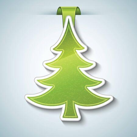 cartoon christmas tree: Christmas tree  Illustration