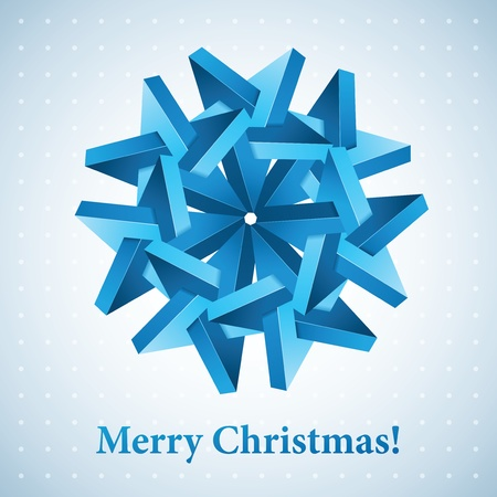 Christmas snowflake illustration. Иллюстрация