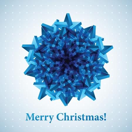 Christmas snowflake illustration. Фото со стока
