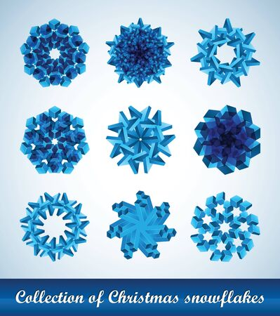 Collection of vector snowflakes Иллюстрация