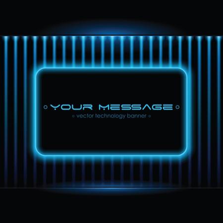 Contexte technologique avec un espace pour le texte