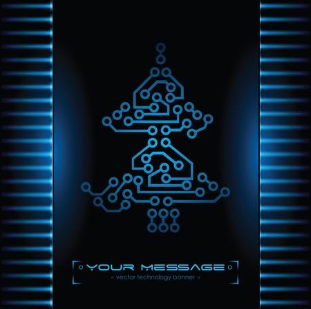 Christmas tree design. Technology background. Stock Photo - 10999838