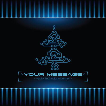 Christmas tree design. Technology background. Stock Photo - 10999837