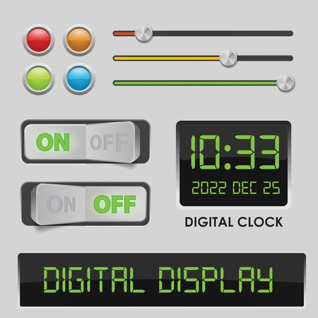 User interface design elements Vector