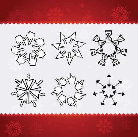 Creative christmas snowflakes Stock Photo - 11084065