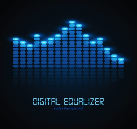 sound mixer: Equalizzatore digitale Vettoriali
