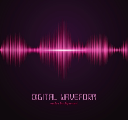 vibrations: Digital waveform Stock Photo
