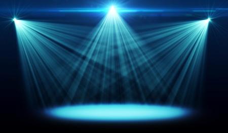 Abstract beeld van concert-verlichting Stockfoto