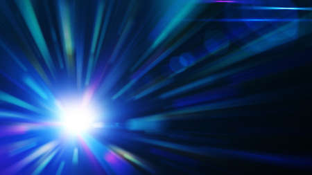 sci: Blue burst, abstract background Stock Photo