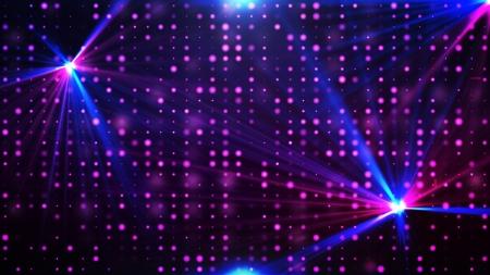 70s disco: Purple disco lights background