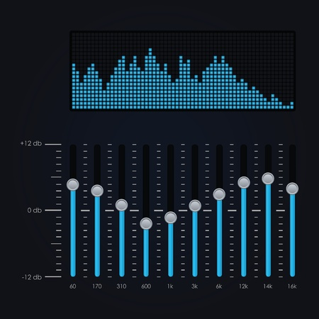 analyzer: Vector illustration of digital equalizer