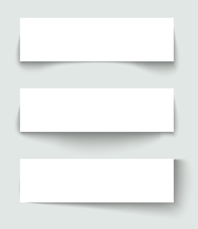 to paper: Set of banners with different shadows