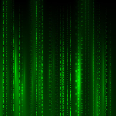 Abstract Matrix Background. Binary Computer Code. Coding / Hacker concept. Background Illustration.