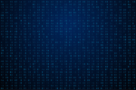 encoded: Abstract Matrix Background. Binary Computer Code. Coding  Hacker concept.  Background Illustration. Illustration