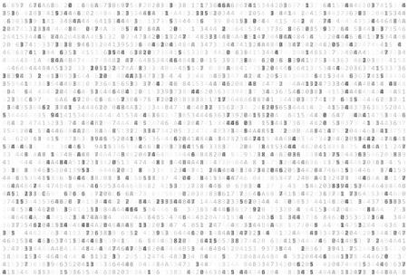 Résumé Matrice Contexte. Code binaire informatique. Codage / concept de Hacker. Contexte Vector Illustration.