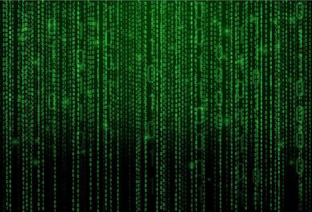 추상 매트릭스 배경입니다. 이진 컴퓨터 코드입니다. 코딩  해커 개념입니다. 배경 일러스트 레이 션.
