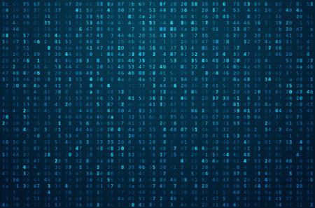 Abstract Matrix. Código Binário Computador. conceito  Hacker de codificação. Ilustração de fundo.