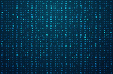 Abstract Matrix Background. Binary Computer Code. Coding / Hacker concept. Background Illustration. Vettoriali
