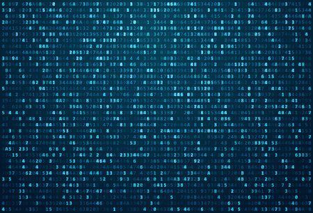 Abstract Matrix Background. Binary Computer Code. Coding / Hacker concept. Background Illustration.  イラスト・ベクター素材