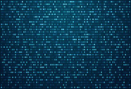 Streszczenie tle macierzy. Kodu binarnego komputera. Kodowanie / Hacker koncepcji. Ilustracja tła. Ilustracje wektorowe
