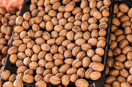 multiples: Trays of walnuts