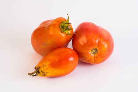 untreated: Untreated homegrown tomatoes with imperfections