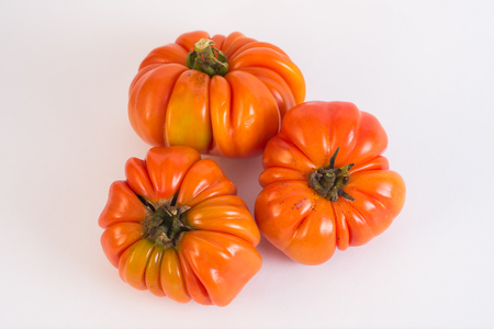 imperfection: Untreated homegrown tomatoes with imperfections