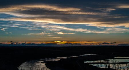 chaparral: Sunset over the Chaparral Valley, Calgary Alberta Canada