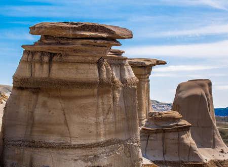Hoodoos at Drumheller Alberta Canada Stok Fotoğraf