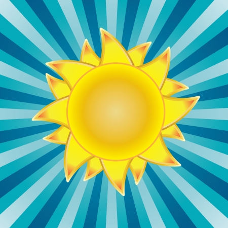 Sun background illustration Stock Vector - 13847755