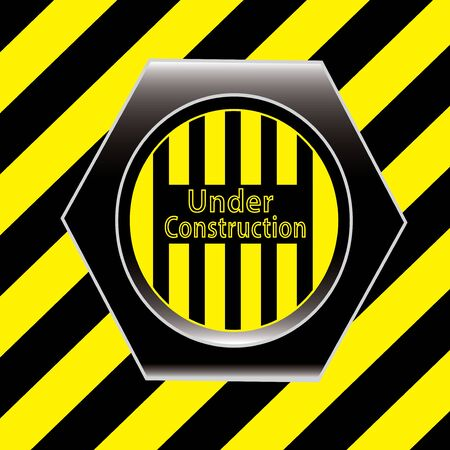Yellow under construction grunge background Stock Vector - 13858692