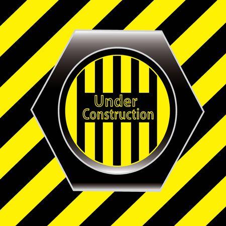 Yellow under construction grunge background Stock Vector - 13858692