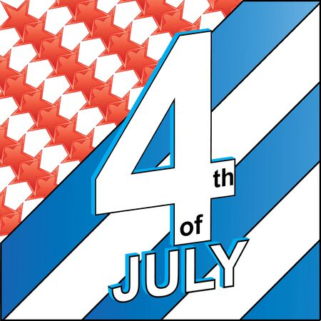 4th of july American vector Stock Vector - 13858691