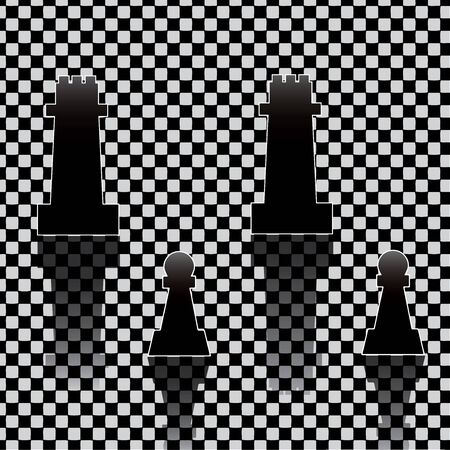 Chess pieces on texture Vector