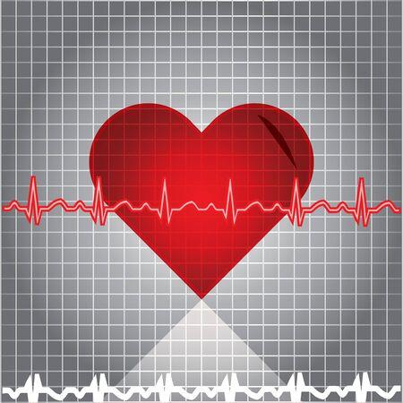 Heart with EKG Stock Vector - 13940782