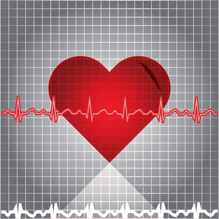Heart with EKG Stock Vector - 13940782