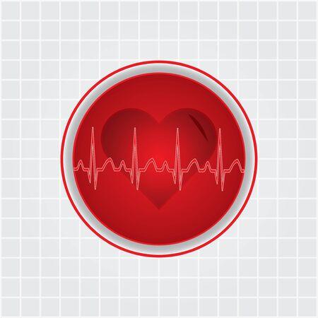 Heart with EKG