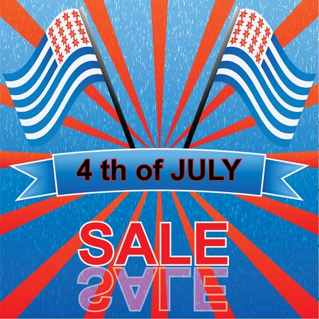 4 th of july sale Stock Vector - 13965942
