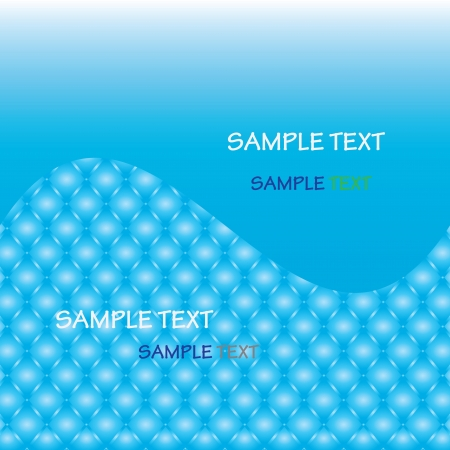 abstract blue  wave line with sample  Stock Vector - 14036929