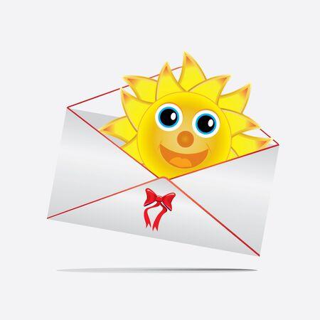 funny envelope whit sun Stock Vector - 14125414
