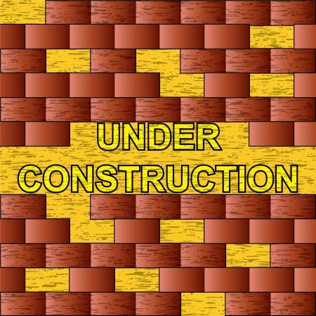Brick under construction background Stock Vector - 14125415