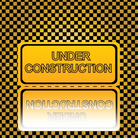 Under construction sign on texture Stock Vector - 14289380
