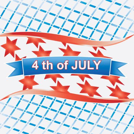 4th of july American.vector isolated on wihte Stock Vector - 14315059