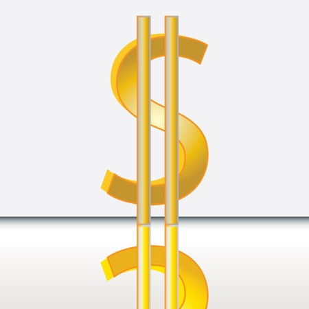 Abstract dollar sign isolated on white Stock Vector - 14334887